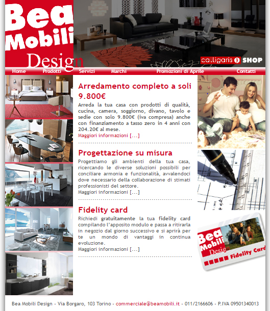 Web design e seo graphivity for Sito web di mobili di design