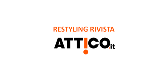 Copertina studio rebranding rivista Attico.it