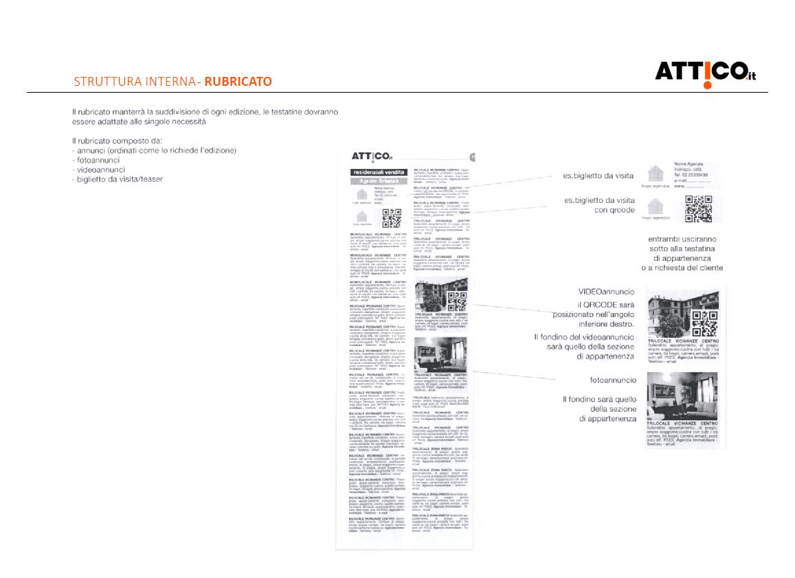 Prima pagina studio rebranding rivista Attico.it - descrizione del rubricato