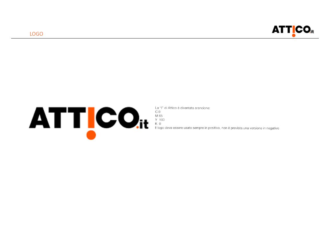 Prima pagina studio rebranding rivista Attico.it - descrizione del logo