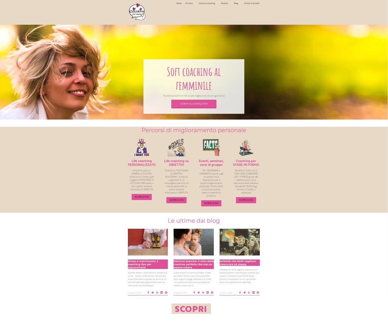 Sito web Chiacchieredavenere.it e campagna SEO