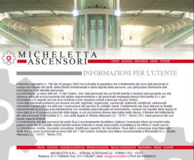 Sito web per Micheletta Ascensori